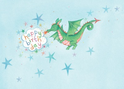 Dragon Birthday Postkarte - Captain Card