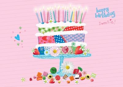 Birthday Cake Postkarte - Captain Card