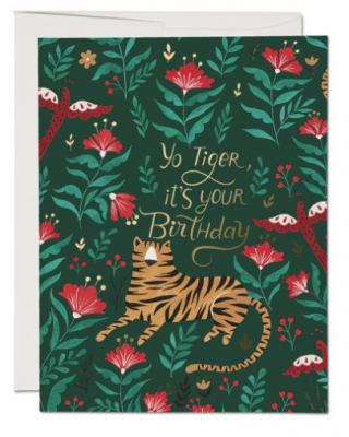 Tiger Birthday Card Red Cap Cards