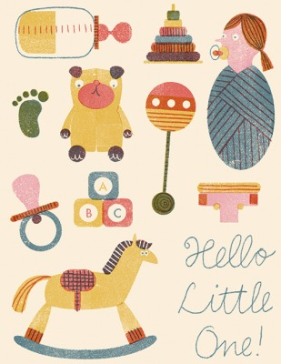 Baby Things - Red Cap Cards