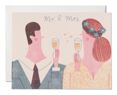 Mr. and Mrs. - Red Cap Cards