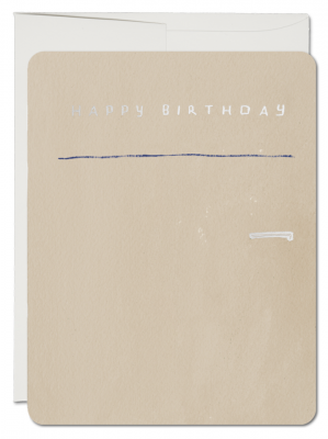 Refrigerator Card French Fold Card Red
