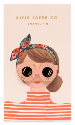Sunglasses Emaille Pin - Rifle Paper Co.