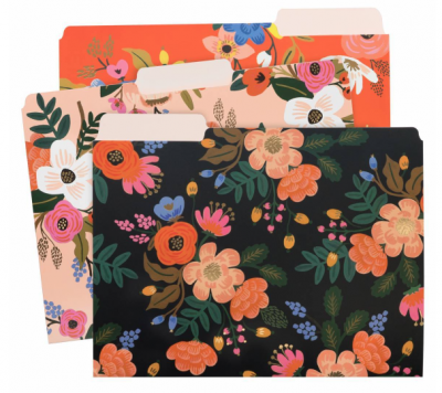Liveley Floral File Folders - Einlegemappen