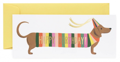 Hot Dog Long Card Rifle Paper