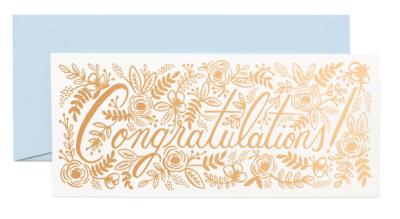 Champagne Floral Congrats Rifle Paper Co