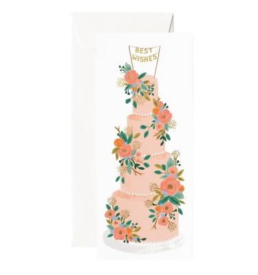 Tall Wedding Cake Long Card Rifle