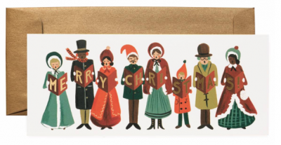 Carolers Christmas Long Card Rifle Paper