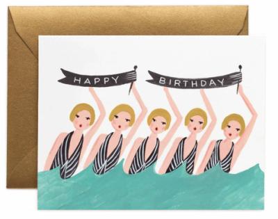Synchronized Birthday Card - Grußkarte
