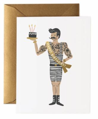 Strongmen Birthday Card - Grusskarte