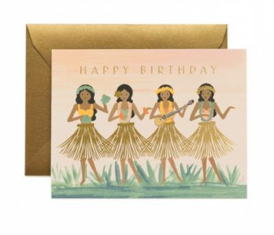 Hula Birthday Card - Grusskarte