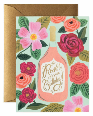 Rosé It s Your Birthday Card - Rifle Paper Co.