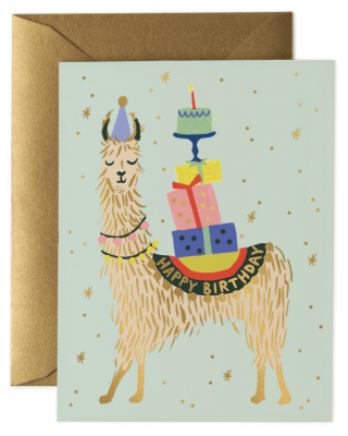 Llama Birthday Card - Rifle Paper