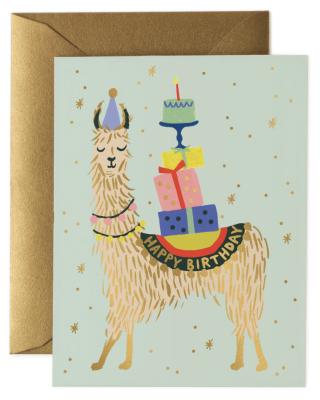 Llama Birthday Card - Rifle Paper
