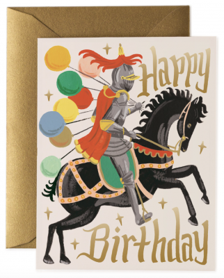Knight Birthday Card - Rifle Paper