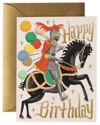 Knight Birthday Card - Rifle Paper