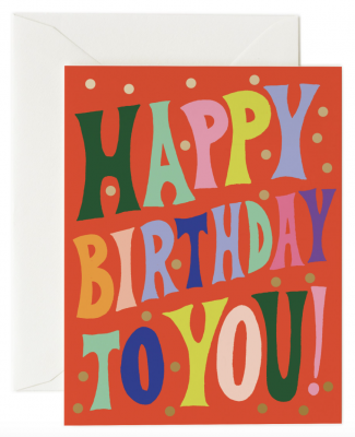 Groovy Birthday Card - Rifle Paper