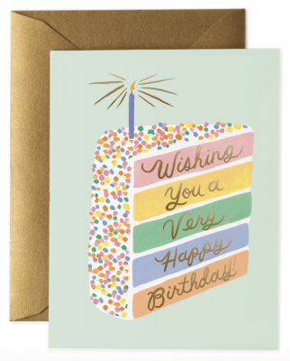 Cake Slice Birthday Card Rifle Paper