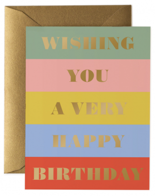 Birthday Wishes Card - Rifle Paper