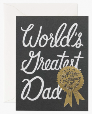 World s Greatest Dad Card Greeting Card