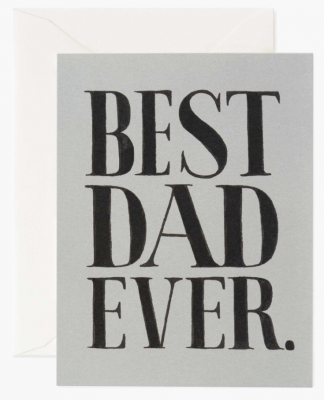 Best dad Ever Card Greeting Card
