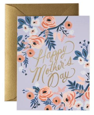 Rosy Mothers Day Card Greeting Card