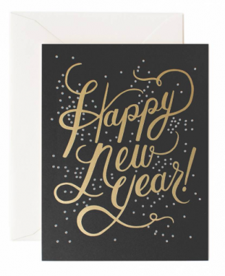 Shimmering New Year Card Greeting Card
