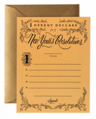 New Years Resolution Card Greeting Card