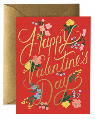 Rouge Valentines Day Card Greeting Card