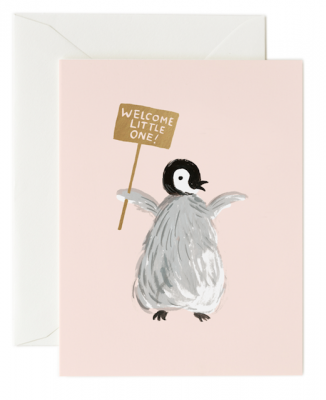 Welcome Penguin Card Rifle Paper Co