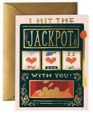 Jackpot Card - Greeting Card
