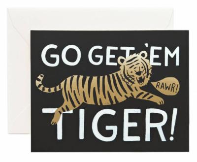 Go Get em Tiger - Grusskarte