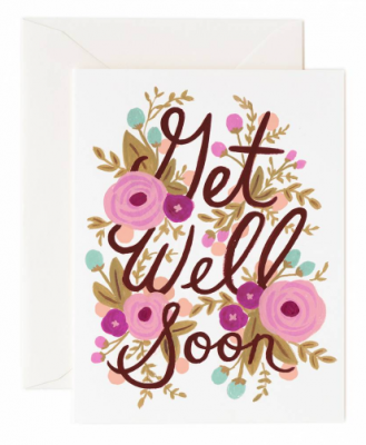 Get Well Soon Floral Rifle Paper