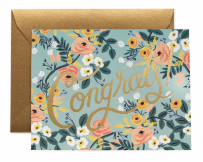 Blue Meadow Congrats - Rifle Paper Co.