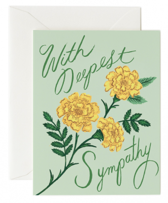 Marigold Sympathy Card - Greeting Card