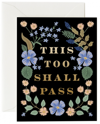 This Too Shall Pass Card Rifle