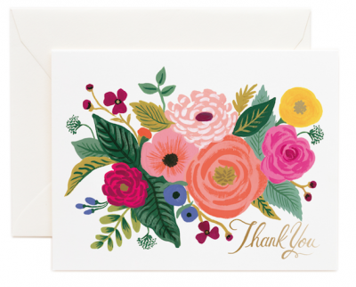 Juliet Rose Thank You - Rifle Paper Co.