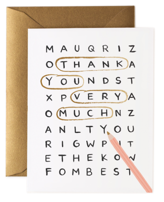 Word Search Thank You - Rifle Paper Co.