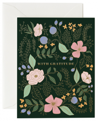 With Gratitude Card - Rifle Paper