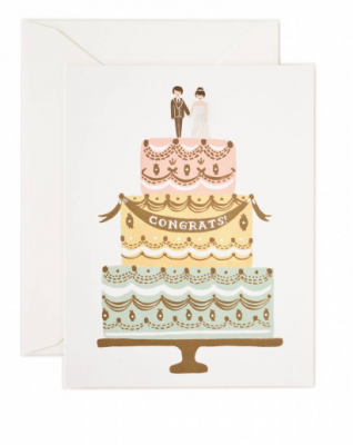 Congrats Wedding Cake Rifle Paper Co