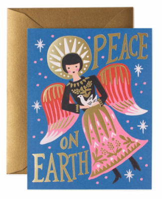 Peace on Earth Angel Card - Rifle Paper Co.