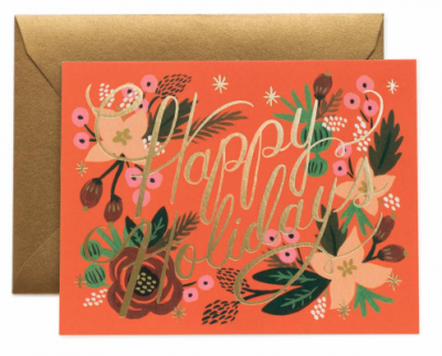 Poinsettia Holiday Card Rifle Paper Co