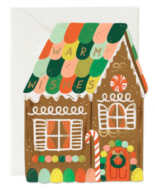 Gingerbread House Card - Grußkarte