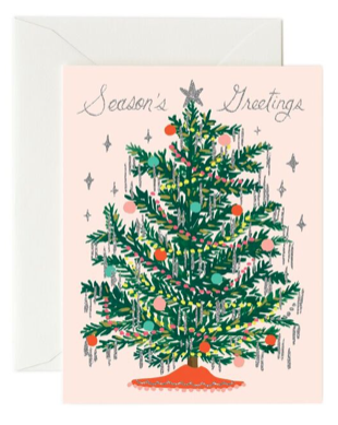Tinsel Tree Card - Grußkarte