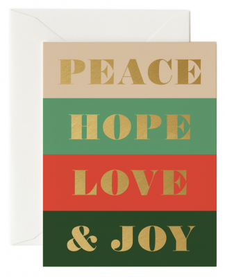 Peace & Joy Card - Rifle