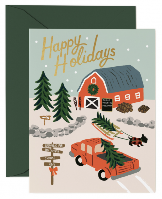 Holiday Tree Farm Card Rifle Paper
