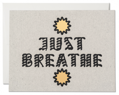 Just Breathe Card Red Cap Cards