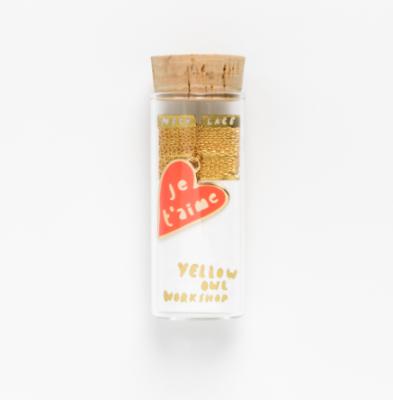 Je t aime Pendant - Yellow Owl Workshop
