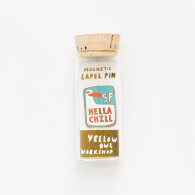 SF Hell Chill Lapel Pin - Yellow Owl Workshop