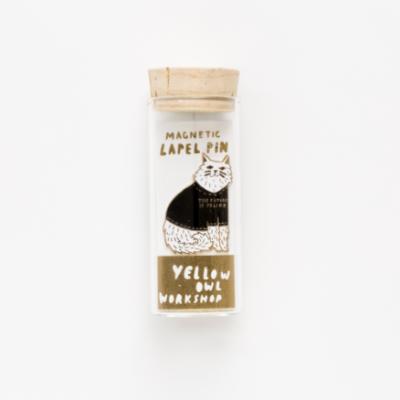 Future is Feline Lapel Pin - Yellow Owl Workshop